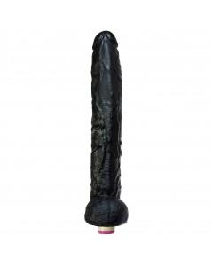 PÊNIS GIGANTE MR RAMBONE SUPER BLACK COM VIBRADOR EM SILICONE foto 2