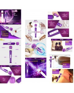 MASSAGEADOR RECARREGÁVEL MAGIC WAND ROXO foto 5