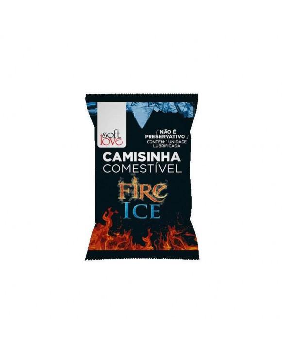 CAMISINHA COMESTÍVEL FIRE AND ICE ESQUENTA E ESFRIA foto 1