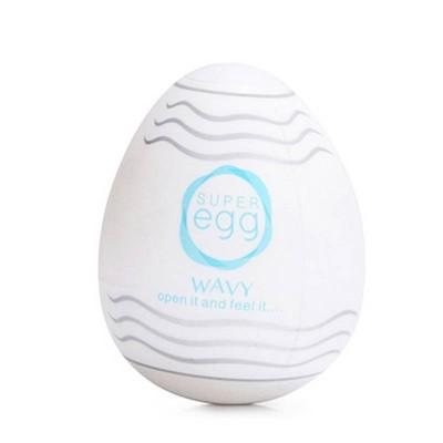 Ovo Masturbador Masculino Silicone Egg Wavy