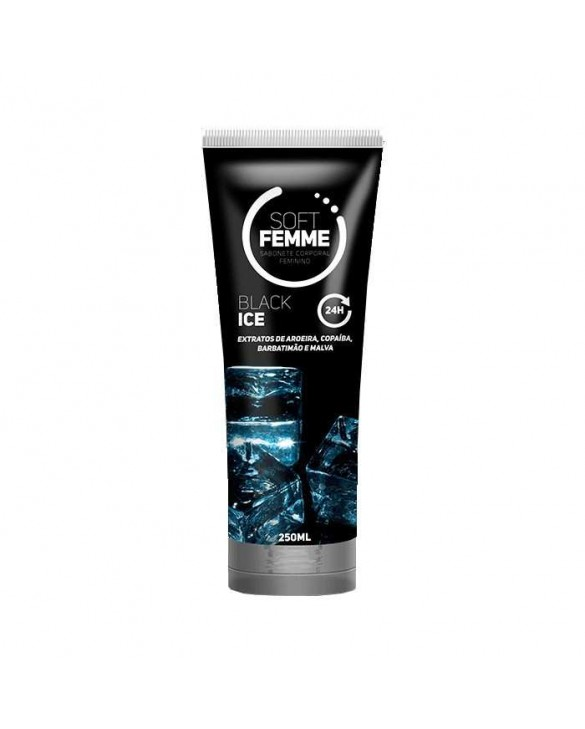 SOFT FEMME BLACK ICE SABONETE LÍQUIDO 250ML foto 1