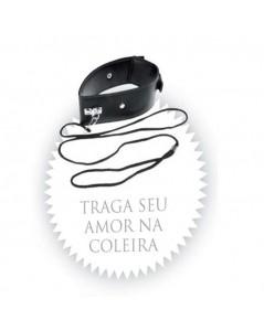 COLEIRA COM GUIA E DETALHES DE METAL foto 3