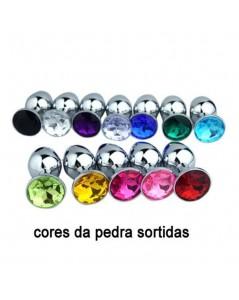 PLUG ANAL METAL CROMADO DIAMOND CORAÇÃO PEQUENO foto 4